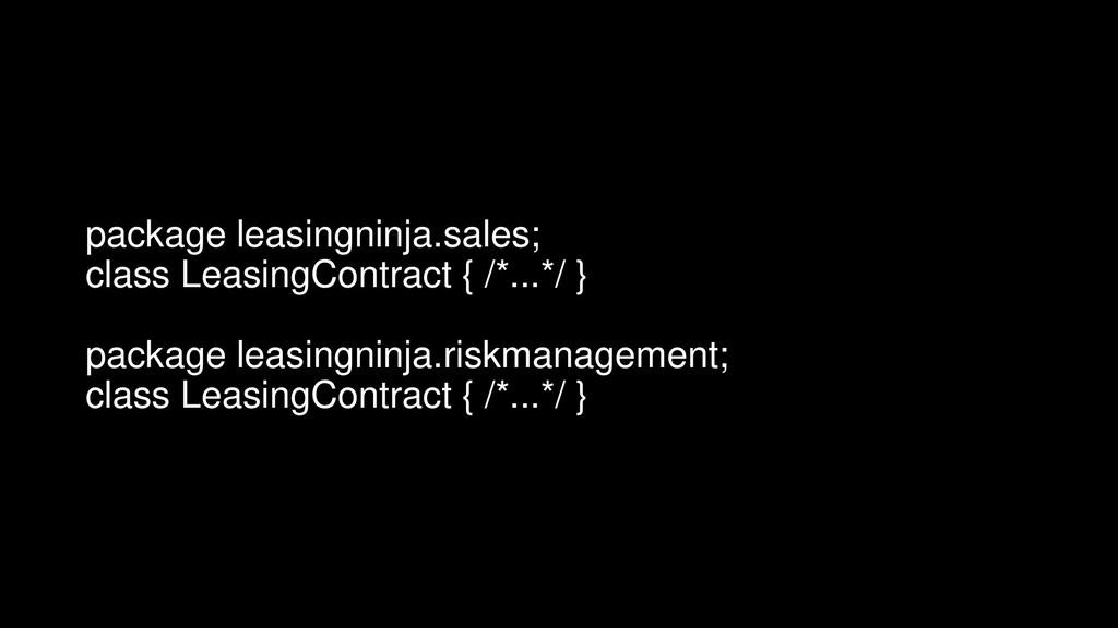 package leasingninja.sales; class LeasingContra...
