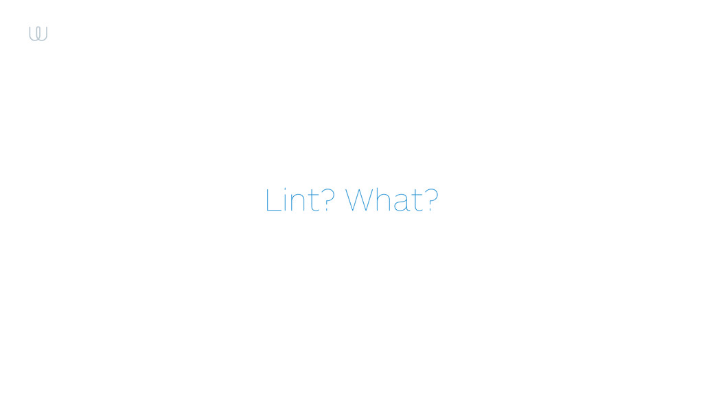 Lint? What?