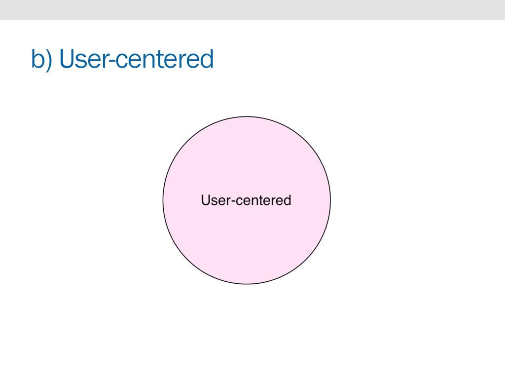 b) User-centered