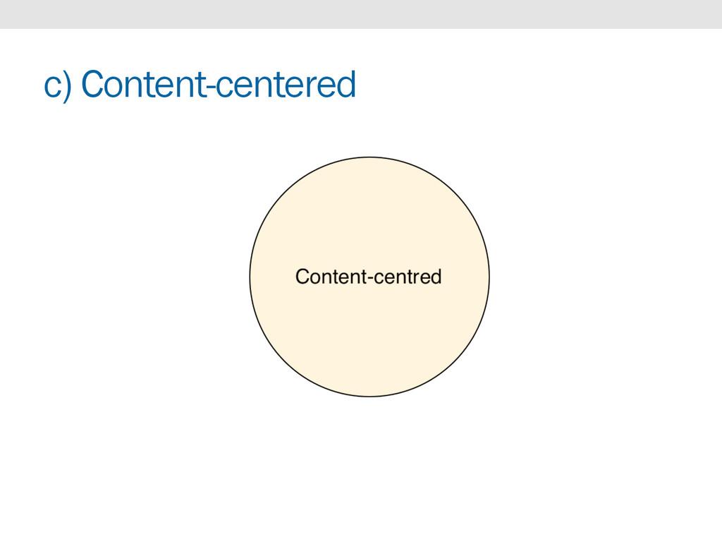 c) Content-centered