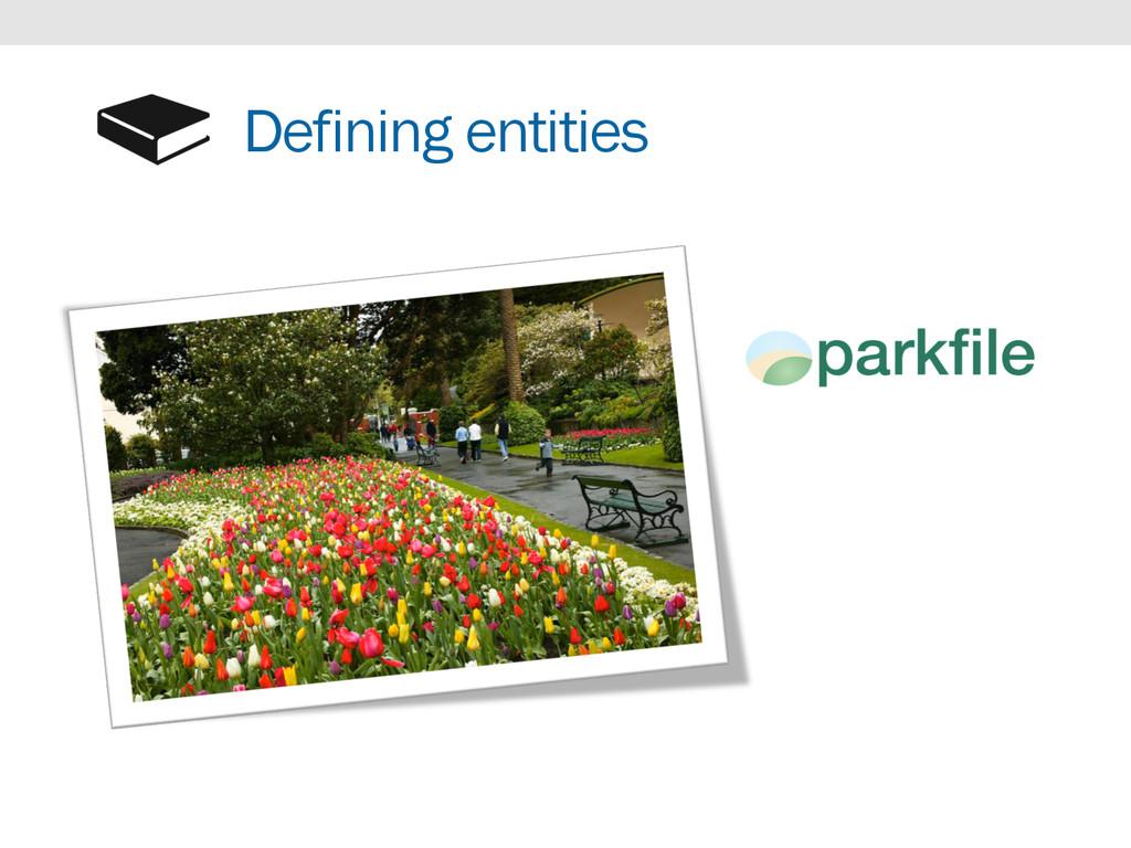 Defining entities