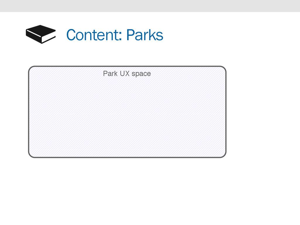 Content: Parks Park UX space