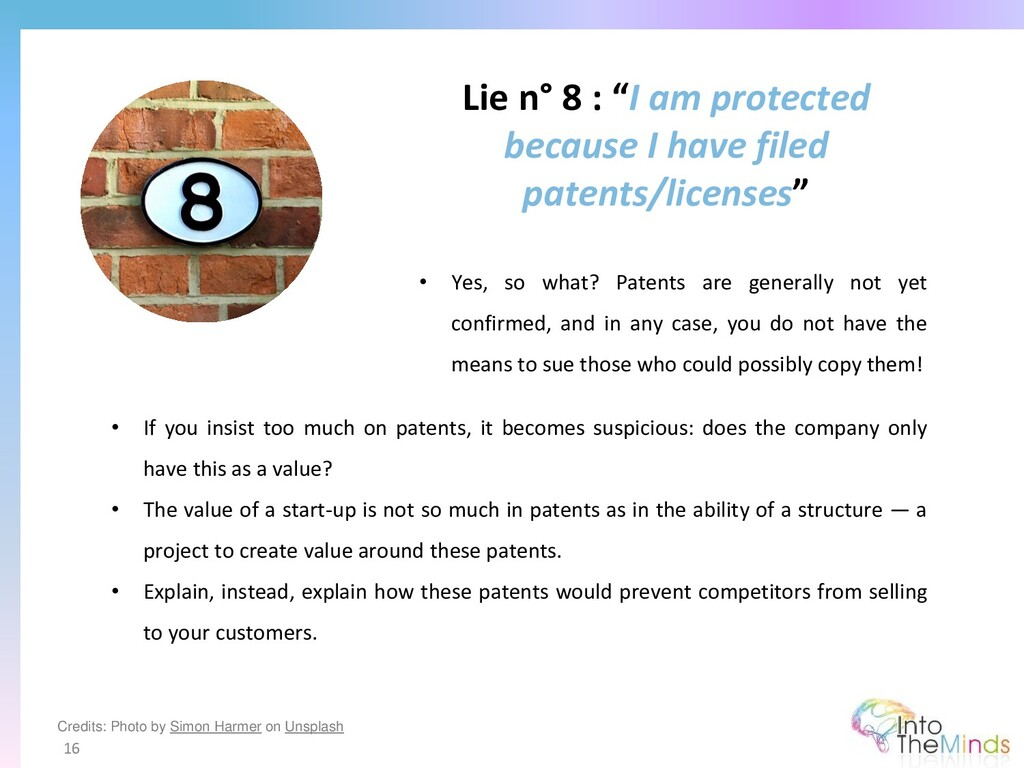 """Lie n° 8 : """"I am protected because I have filed..."""