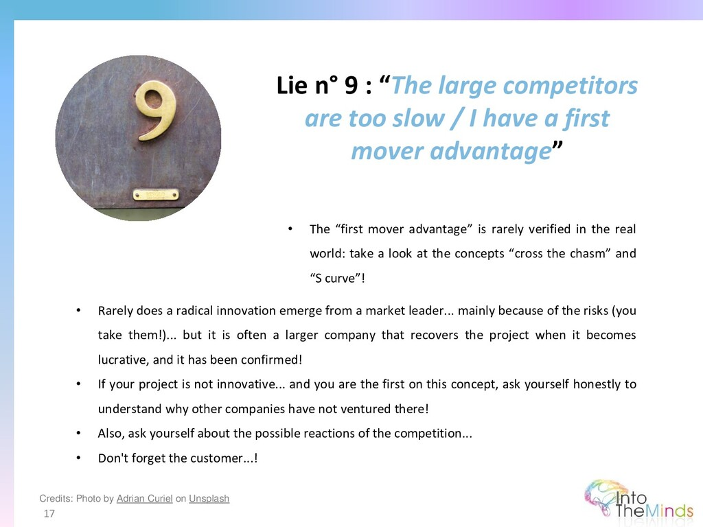 """Lie n° 9 : """"The large competitors are too slow ..."""