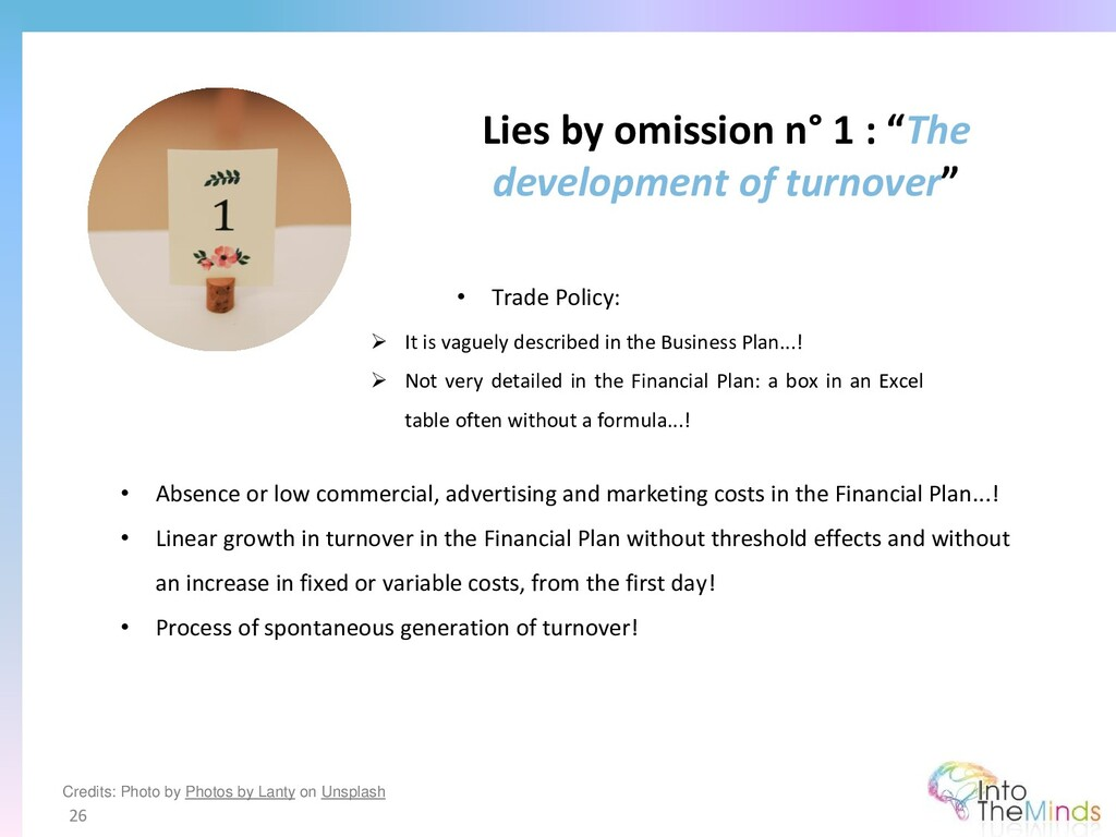 """Lies by omission n° 1 : """"The development of tur..."""