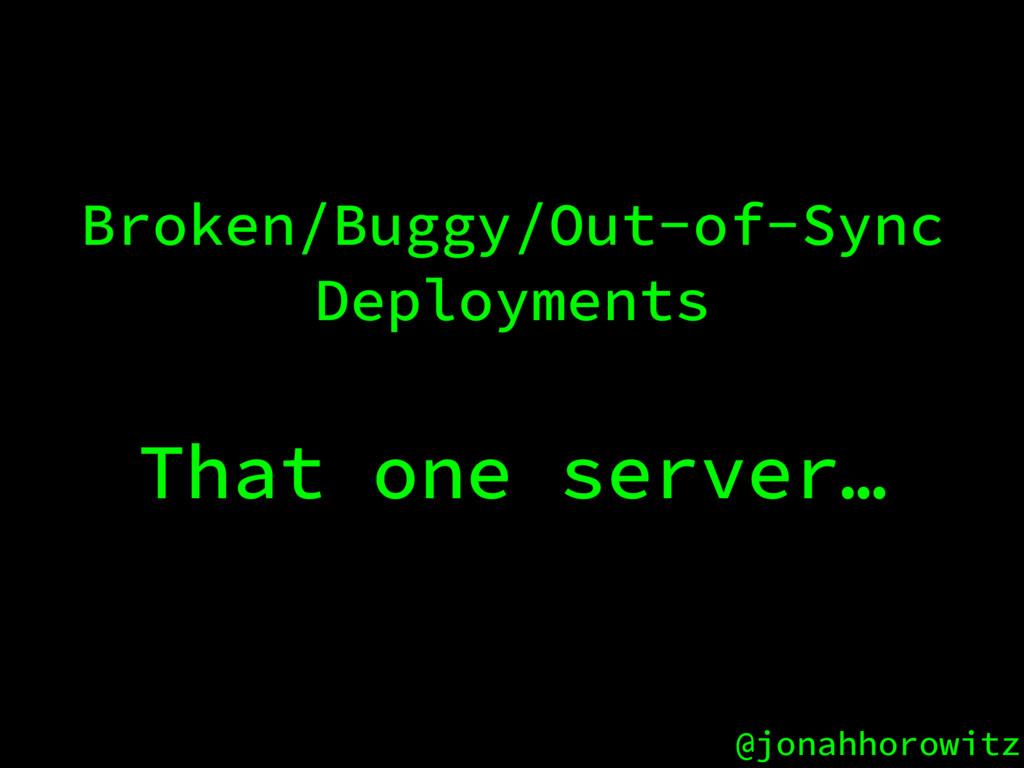 @jonahhorowitz Broken/Buggy/Out-of-Sync Deploym...