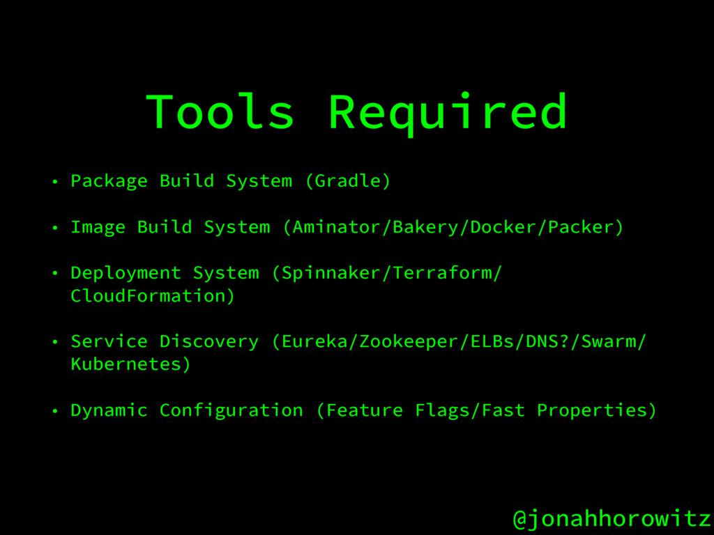 @jonahhorowitz Tools Required • Package Build S...