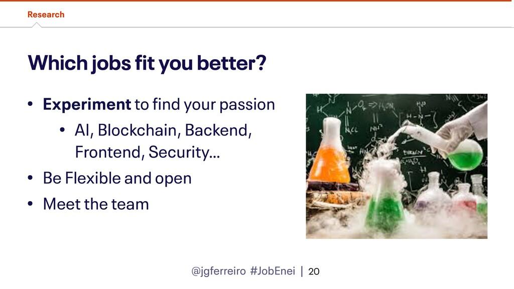 @jgferreiro #JobEnei | Which jobs fit you bette...