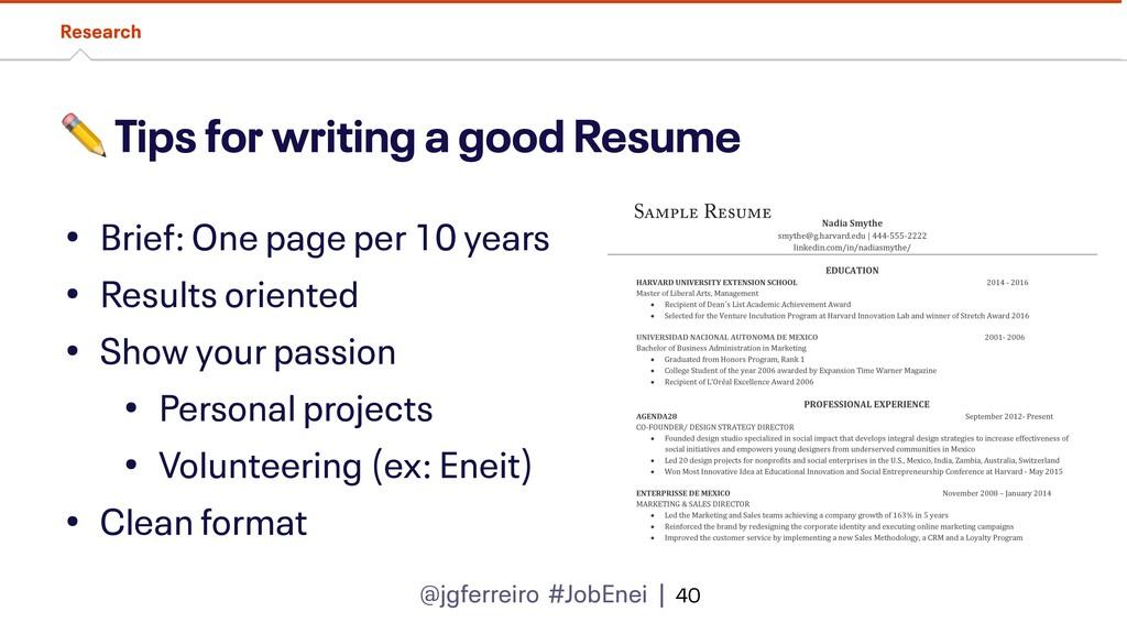 @jgferreiro #JobEnei | ✏ Tips for writing a goo...