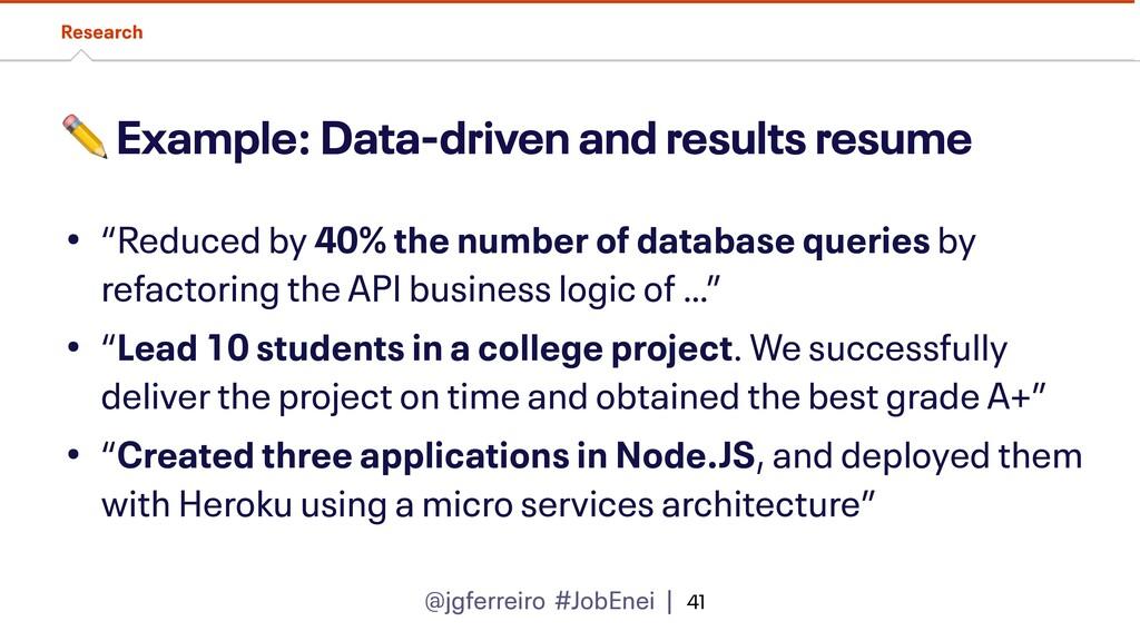 @jgferreiro #JobEnei | ✏ Example: Data-driven a...