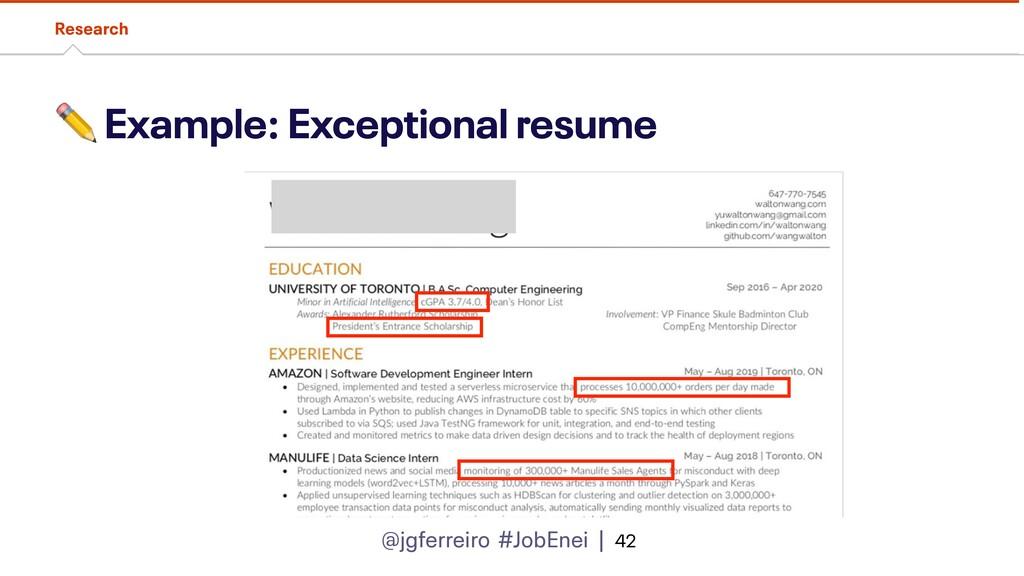 @jgferreiro #JobEnei | ✏ Example: Exceptional r...