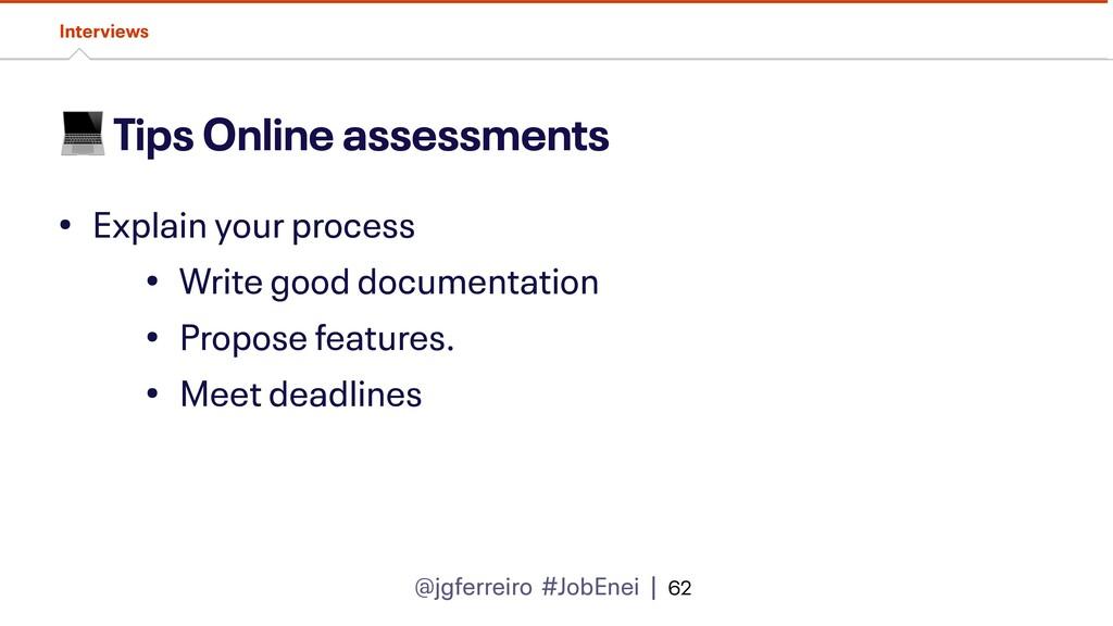 @jgferreiro #JobEnei |  Tips Online assessments...