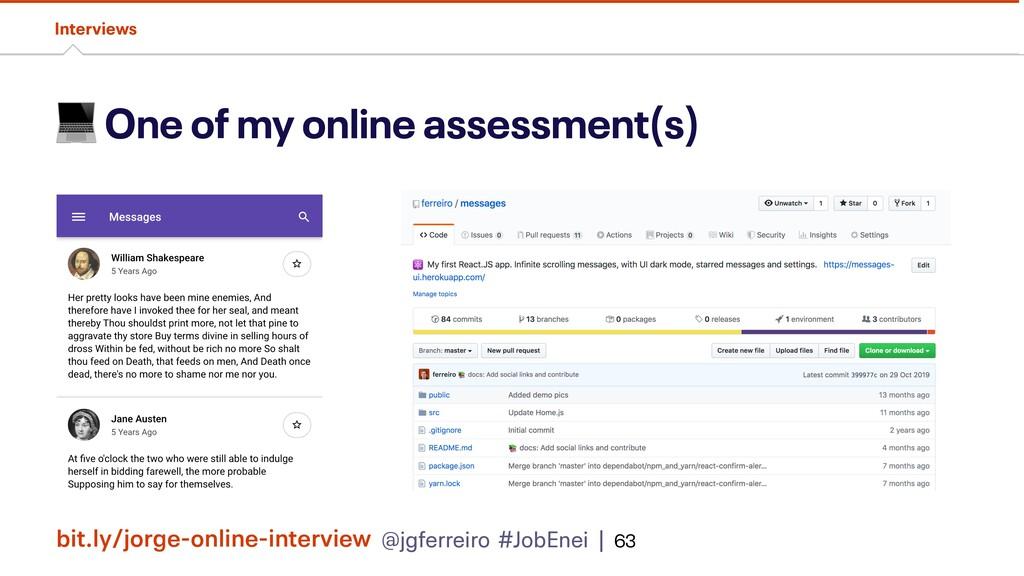 @jgferreiro #JobEnei |  One of my online assess...