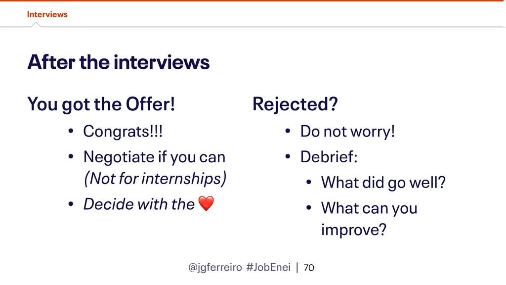 @jgferreiro #JobEnei | After the interviews Int...