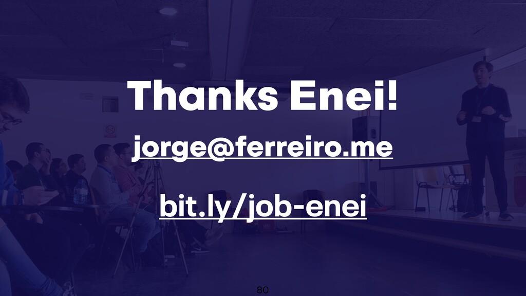X jorge@ferreiro.me Thanks Enei! 80 bit.ly/job-...