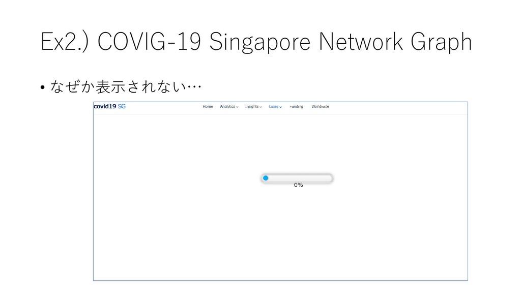 Ex2.) COVIG-19 Singapore Network Graph • なぜか表示さ...