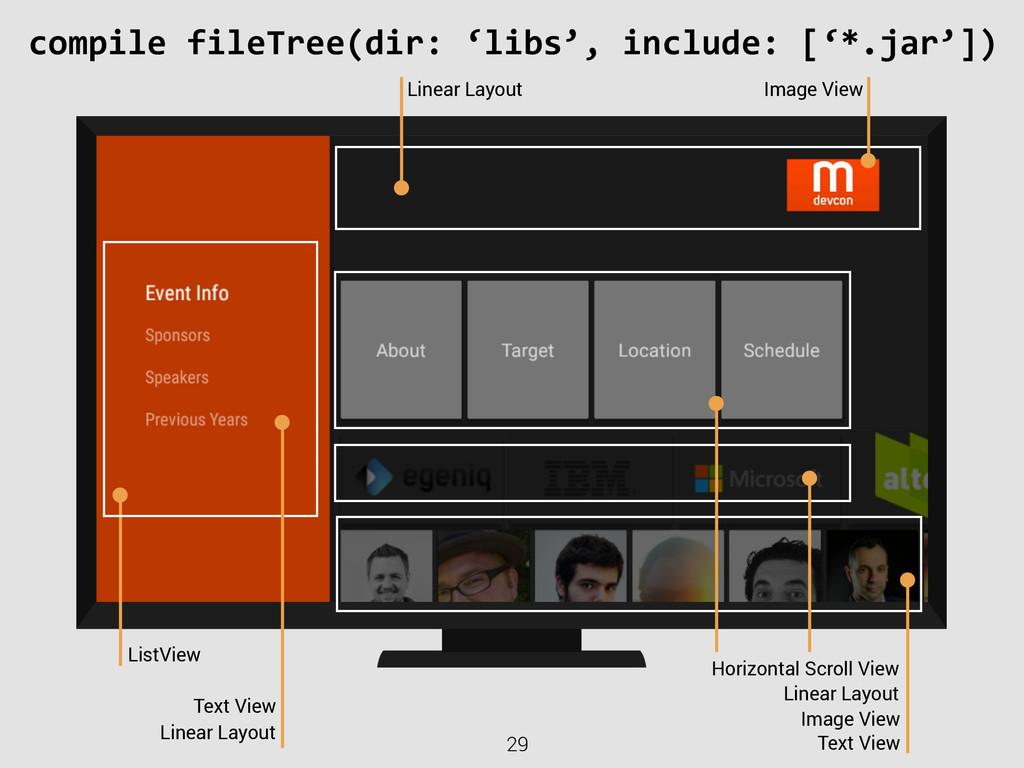 29 compile fileTree(dir: 'libs', inclu...