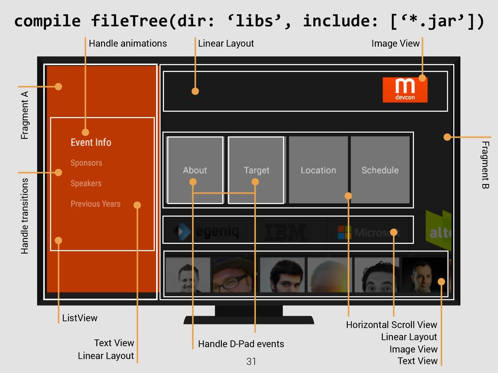 31 compile fileTree(dir: 'libs', inclu...