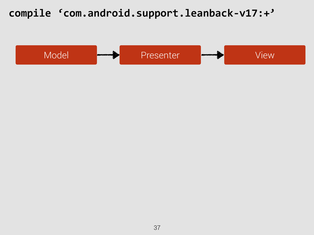 37 compile 'com.android.support.leanback-‐v...