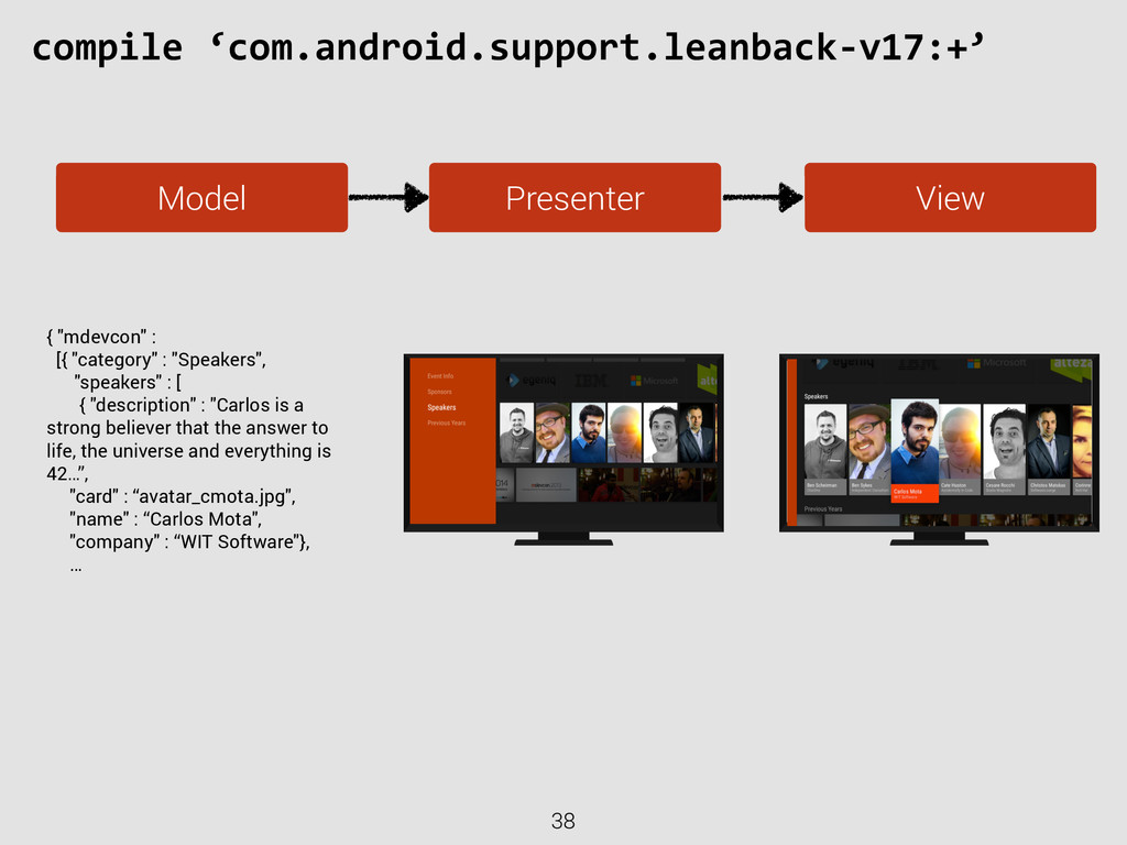 38 compile 'com.android.support.leanback-‐v...