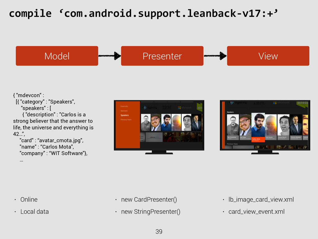 39 compile 'com.android.support.leanback-‐v...