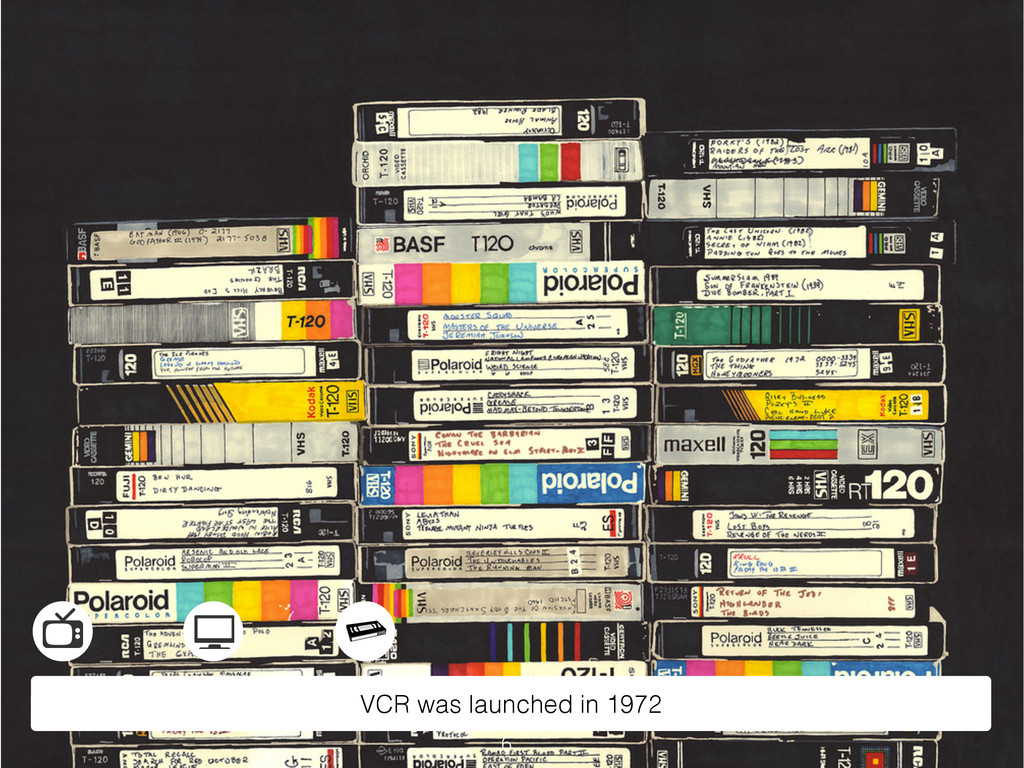 VCR was launched in 1972 6