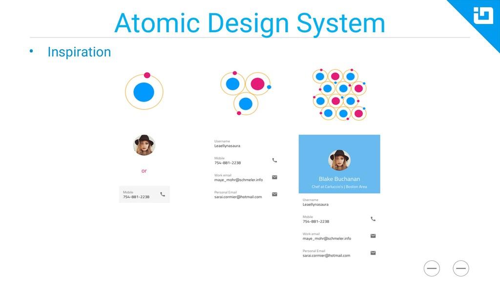 Atomic Design System • Inspiration