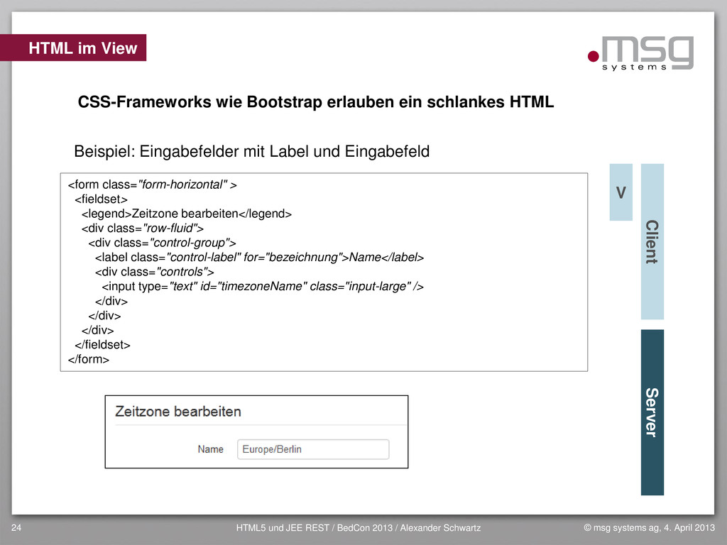 © msg systems ag, 4. April 2013 HTML5 und JEE R...