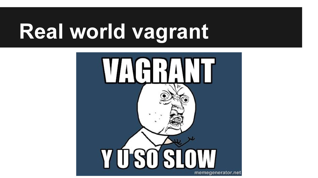 Real world vagrant