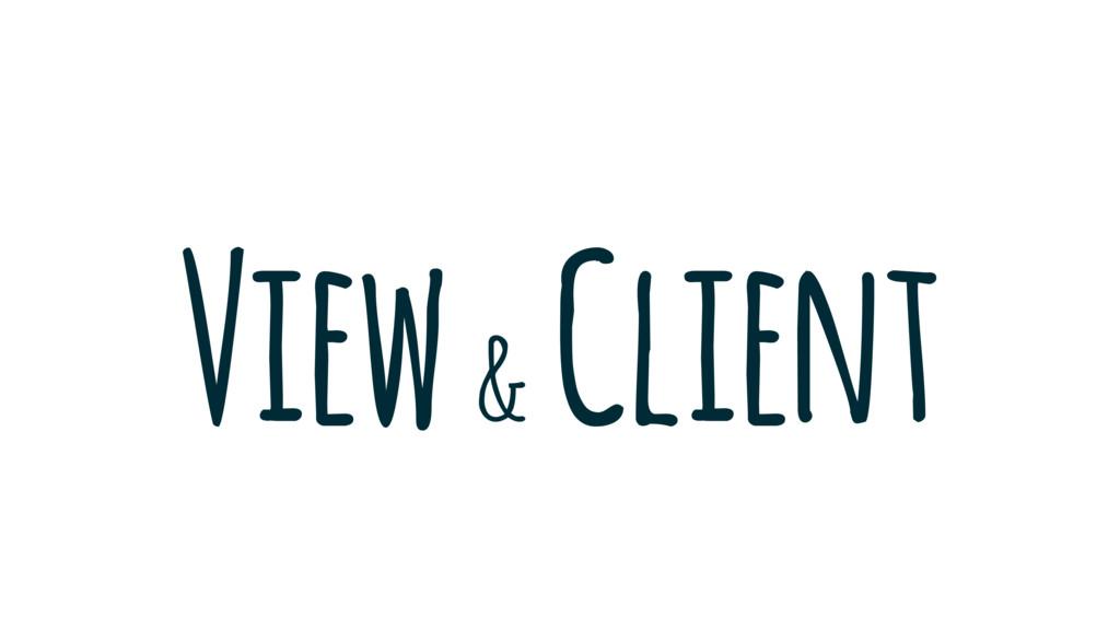 View & Client