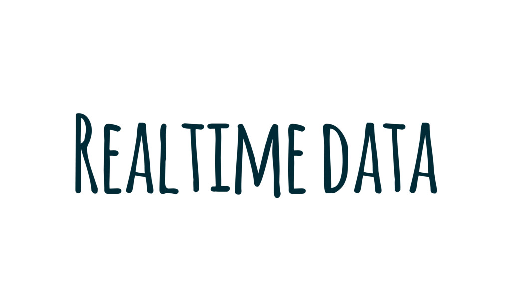 Realtime data