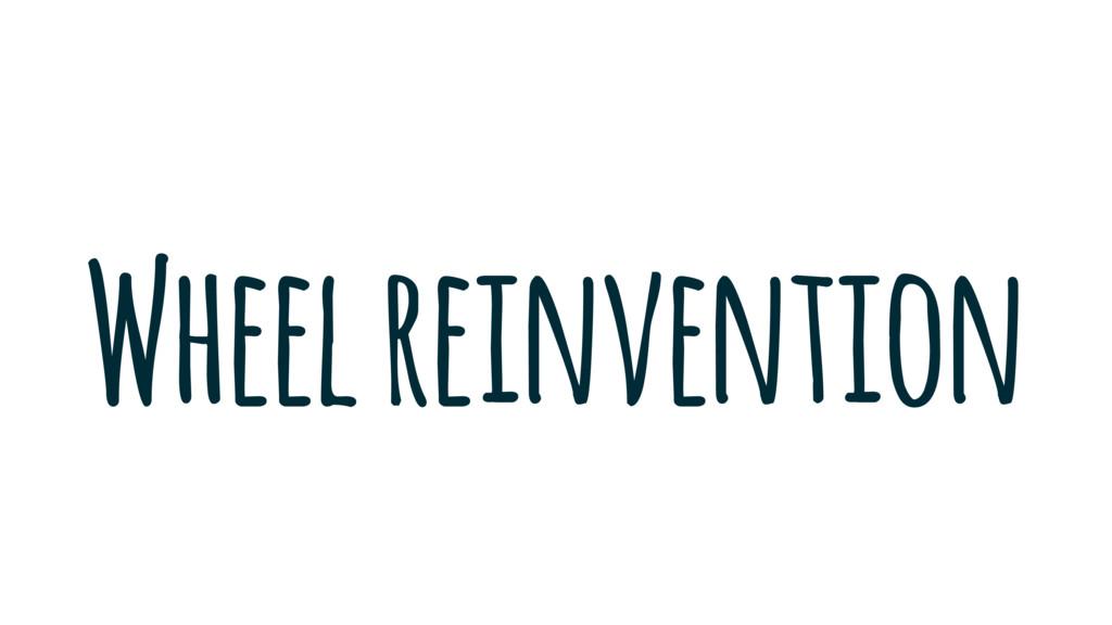 Wheel reinvention