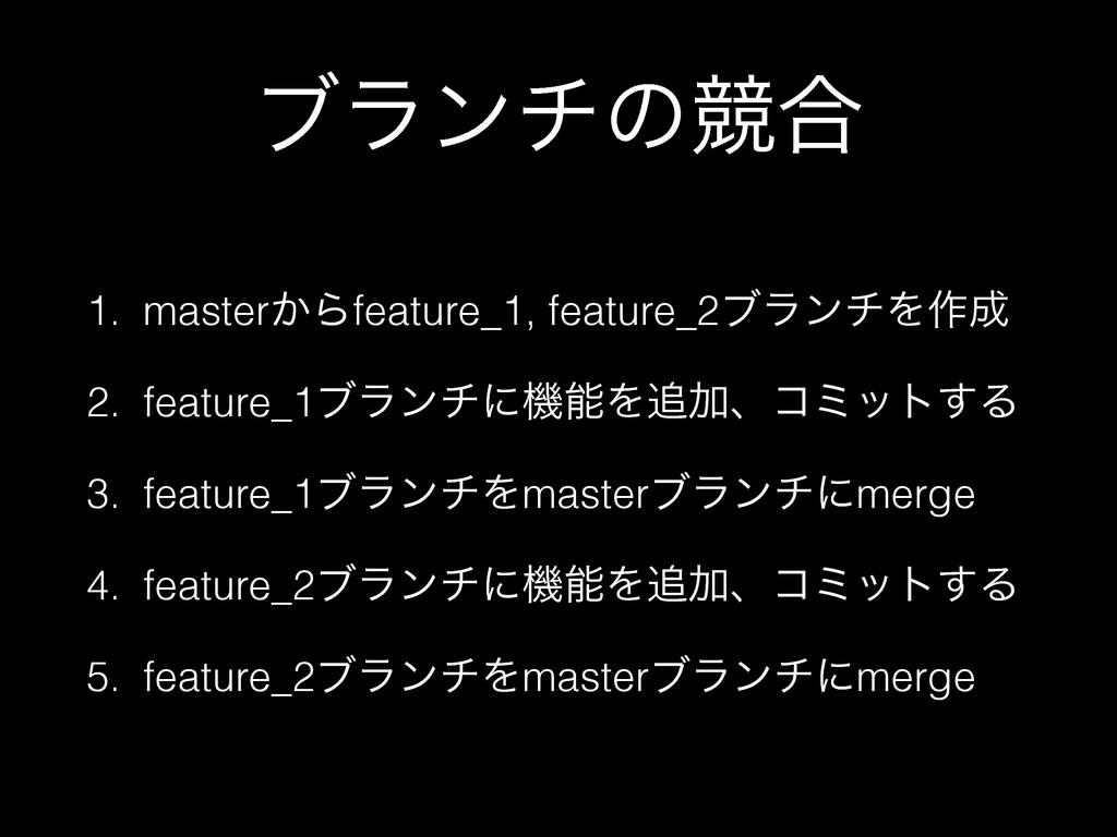 ϒϥϯνͷڝ߹ 1. master͔Βfeature_1, feature_2ϒϥϯνΛ࡞ ...
