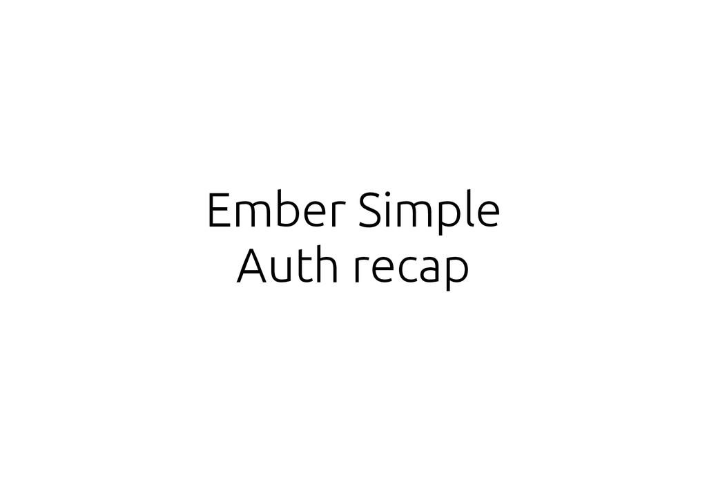 Ember Simple Auth recap