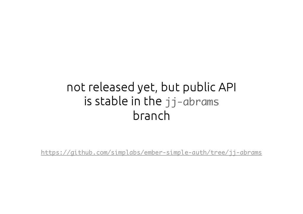 not released yet, but public API is stable in t...