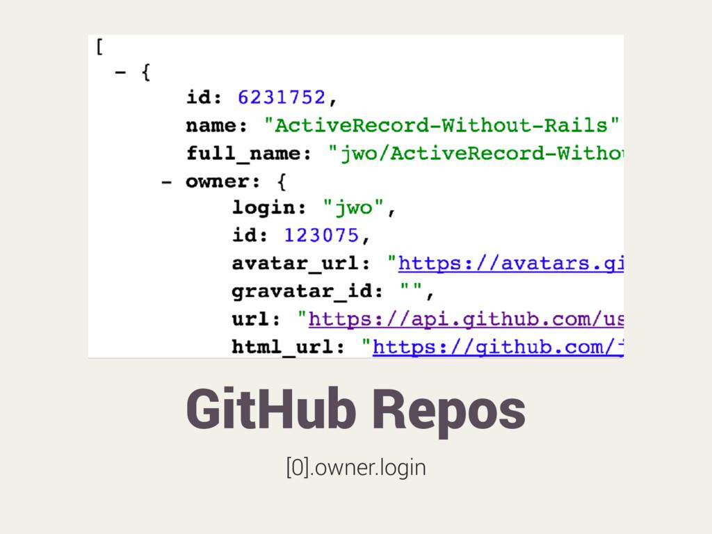 GitHub Repos [0].owner.login