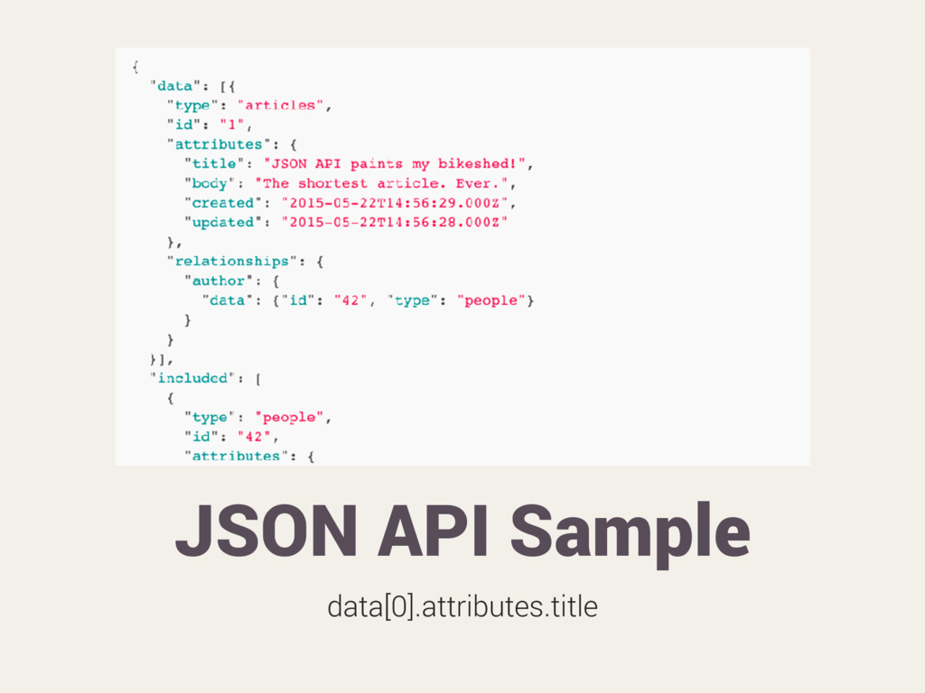 JSON API Sample data[0].attributes.title