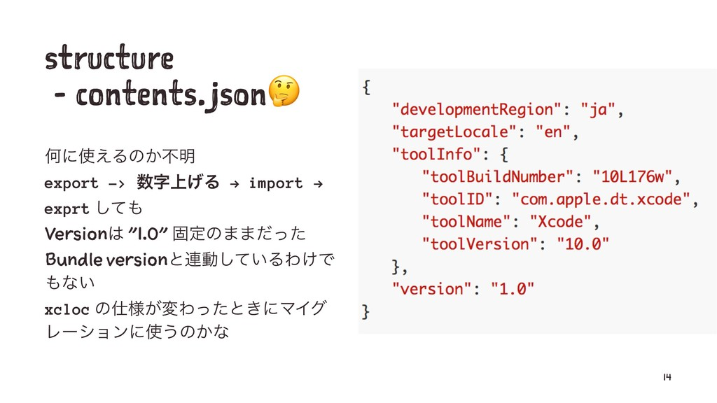 structure - contents.json ! Կʹ࢖͑Δͷ͔ෆ໌ export ->...