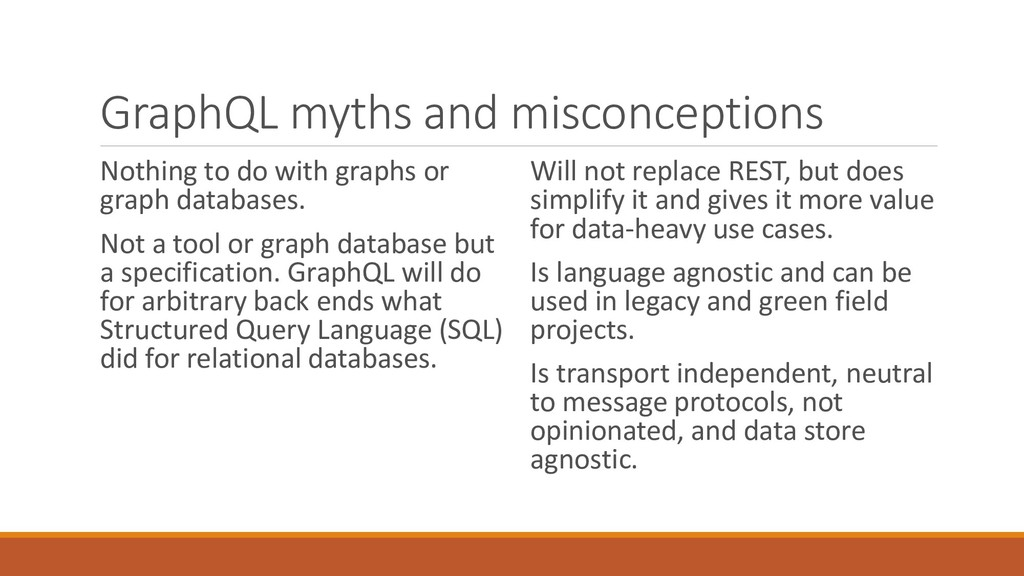 GraphQL myths and misconceptions Nothing to do ...