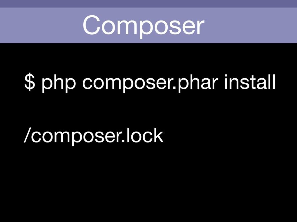 Composer $ php composer.phar install /composer....