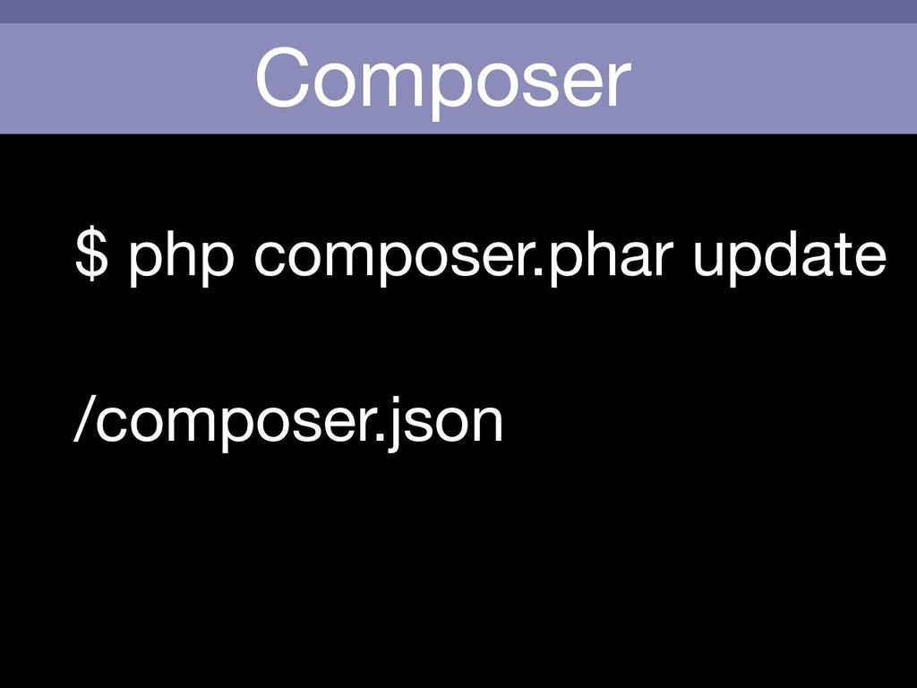Composer $ php composer.phar update /composer.j...