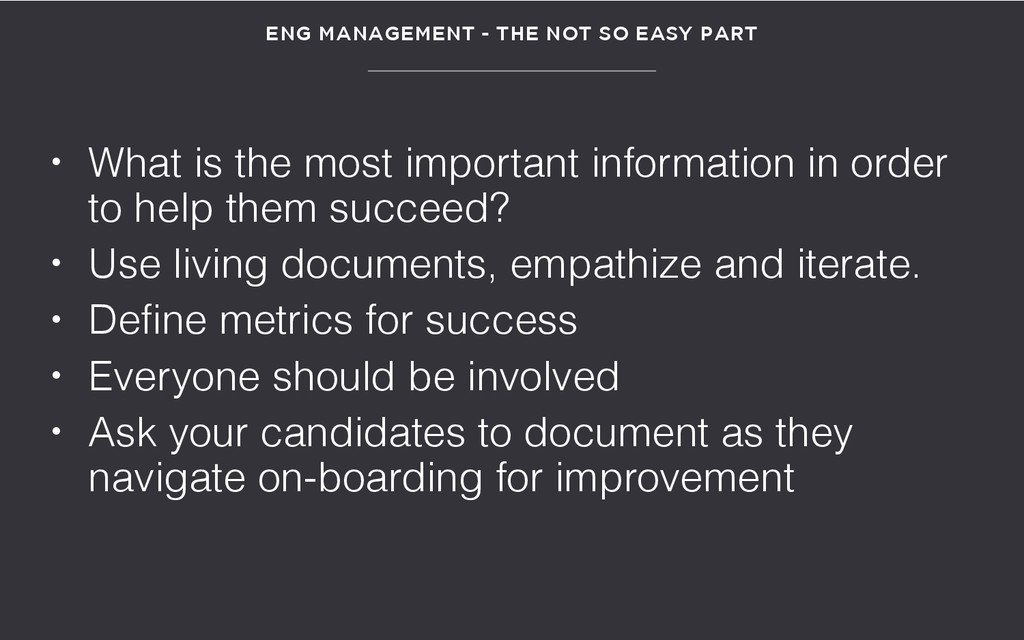 • What is the most important information in ord...