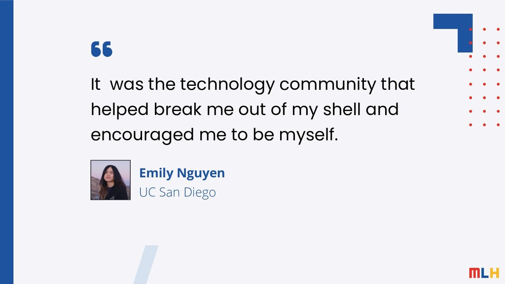 It was the technology community that helped bre...