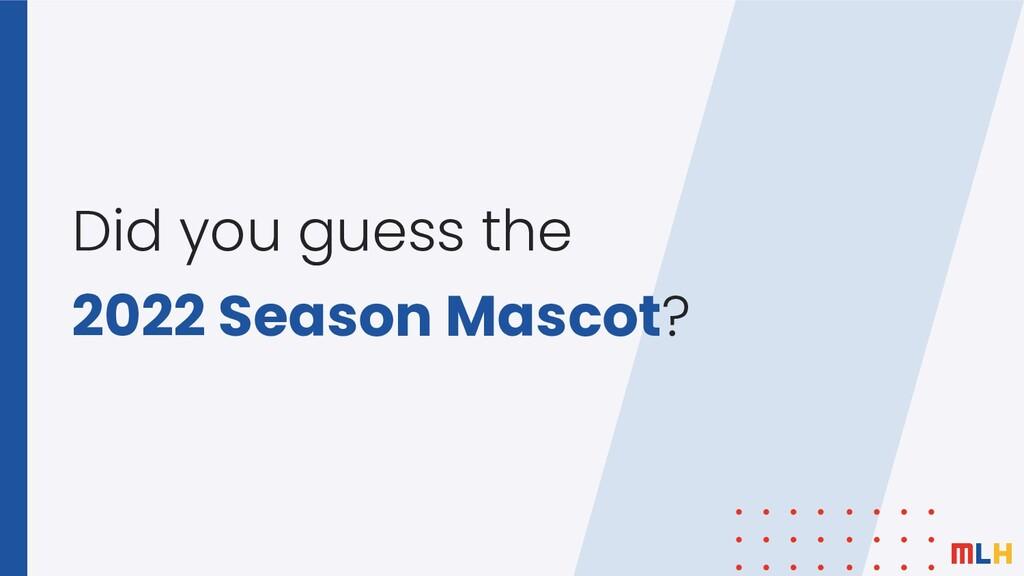 Did you guess the 2022 Season Mascot?