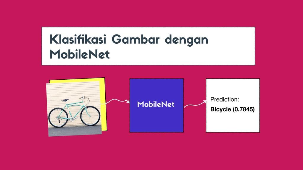 MobileNet Prediction:  Bicycle (0.7845) Klasifik...