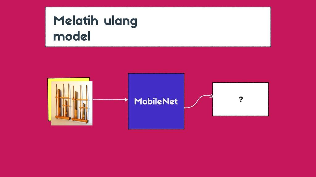 Melatih ulang model MobileNet ?