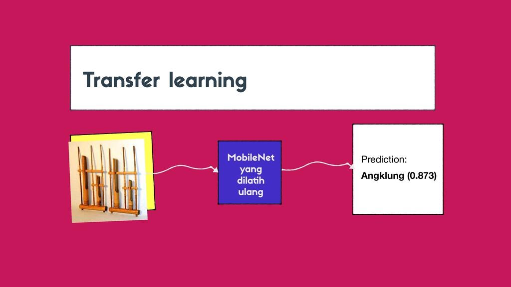 Transfer learning MobileNet yang dilatih ulang ...