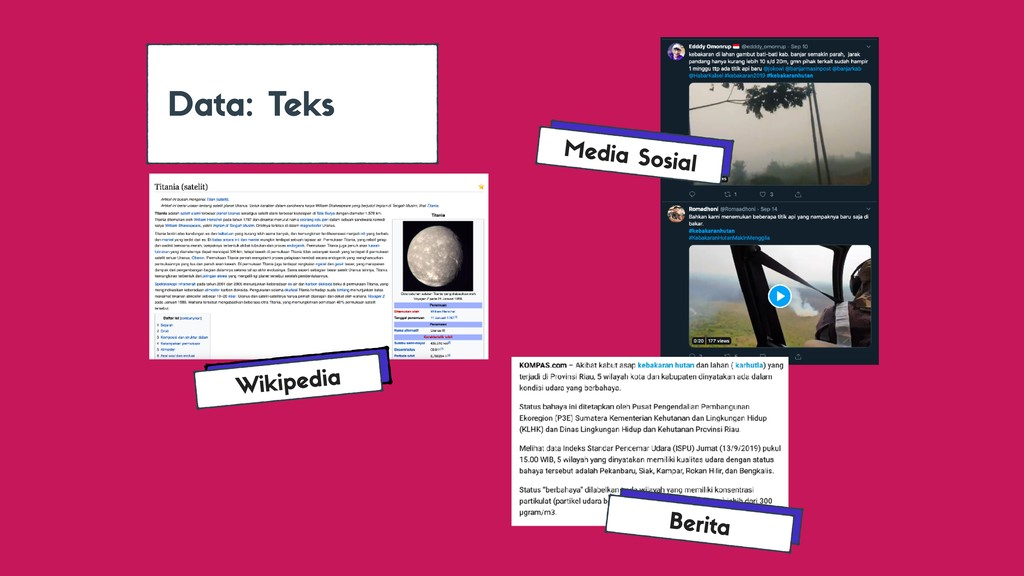 Data: Teks Wikipedia Berita Media Sosial