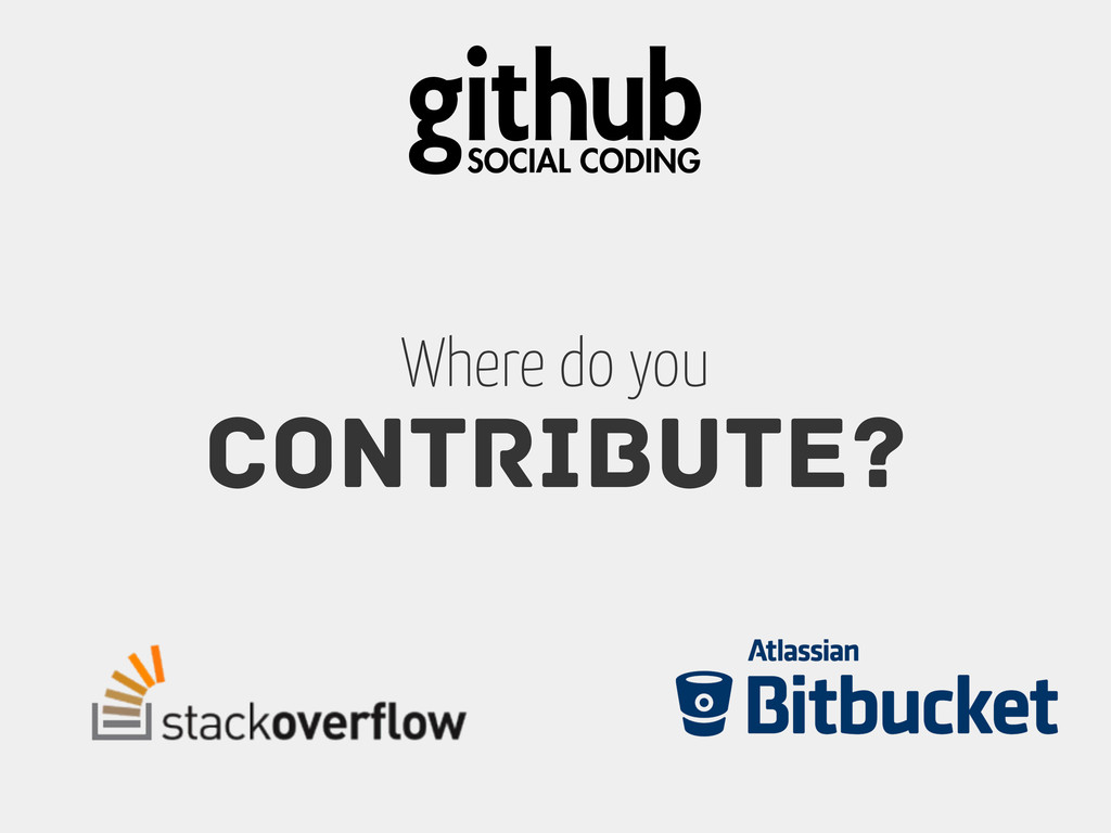Contribute? Where do you