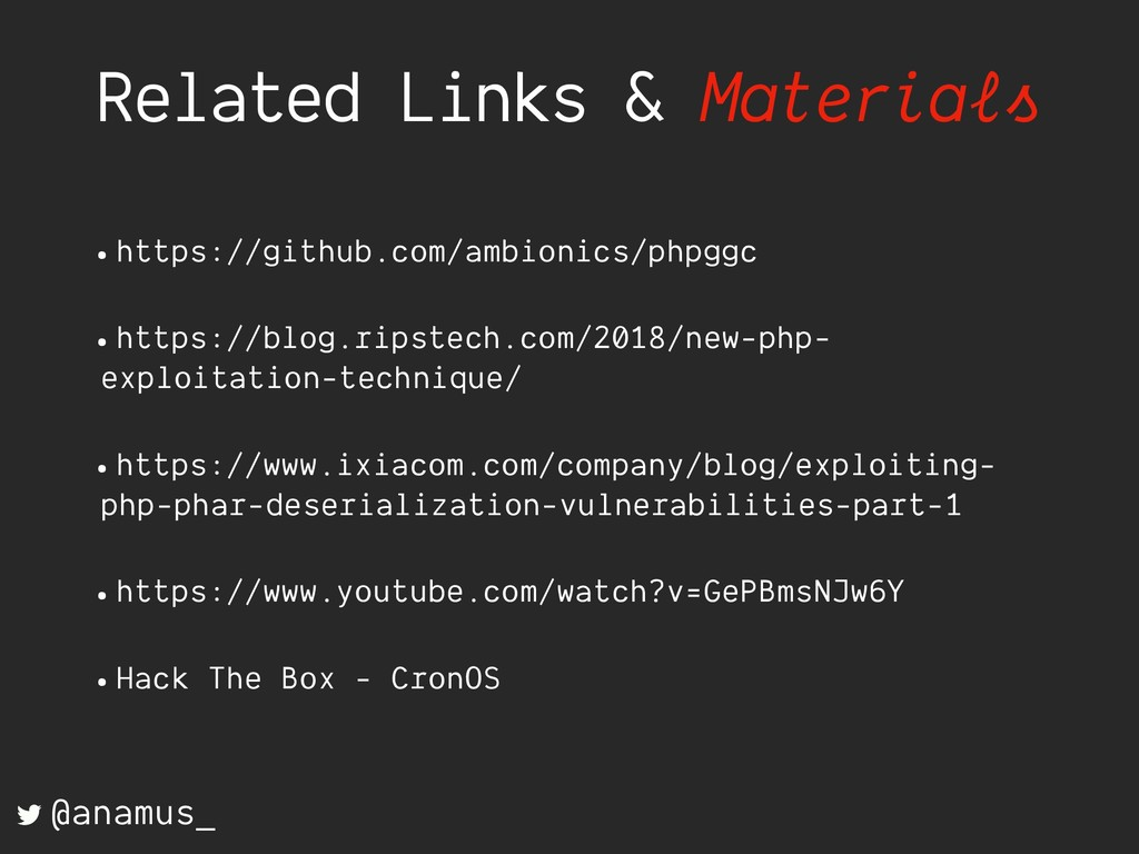 Related Links & Materials •https://github.com/a...